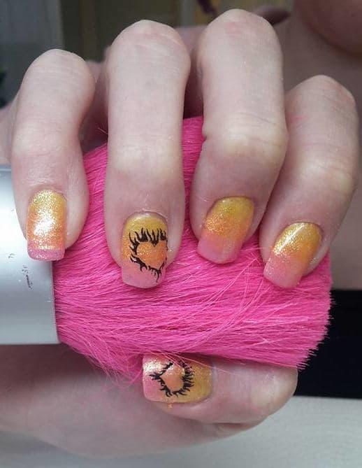 Ombre Look Gel Nägel iin Pink aus dem Studio in Wien